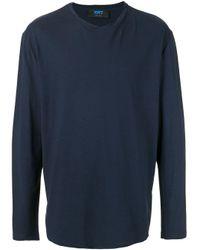 メンズ Kiton ロングtシャツ Blue