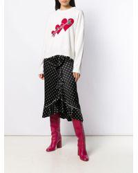 RED Valentino Love ハート セーター Multicolor