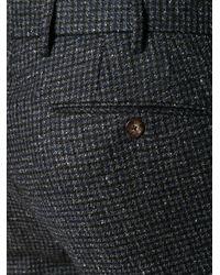 PT01 Schmale Hose mit Hahnentrittmuster in Blue für Herren