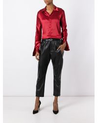 DSquared² Red Spread Collar Shirt