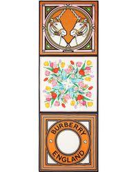 Foulard à imprimé graphique Burberry en coloris Orange