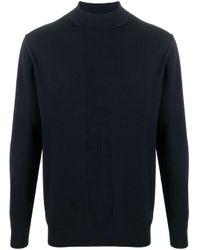 メンズ Karl Lagerfeld ハイネック セーター Blue