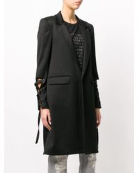 Each x Other - Black Lace-up Detail Coat - Lyst