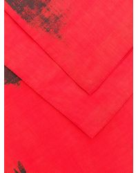 CALVIN KLEIN 205W39NYC - Red X Andy Warhol Painted Look Scarf - Lyst