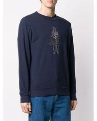 メンズ C P Company ロゴ スウェットシャツ Blue