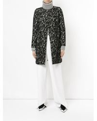 Han Ahn Soon | Black Belted Lace Coat | Lyst