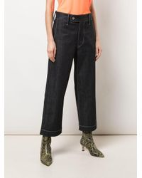 Junya Watanabe Blue Cropped-Jeans