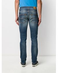 メンズ Nudie Jeans ストーンウォッシュ ジーンズ Blue