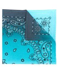Natasha Zinko ペイズリー スカーフ Blue