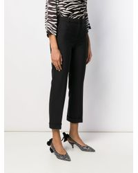 Boutique Moschino Black Sharp Suit Trousers