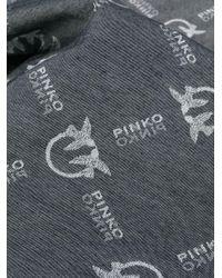 Pinko パターン スカーフ Black