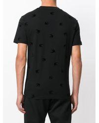 メンズ McQ Alexander McQueen Swallow Tシャツ Black