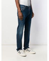 Jeans con effetto schiarito di Jacob Cohen in Blue da Uomo