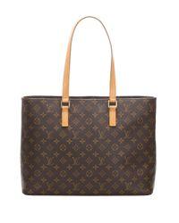 Sac cabas Luco pre-owned Louis Vuitton en coloris Brown