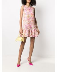 Versace Jeans バロッコプリント ノースリーブドレス Pink
