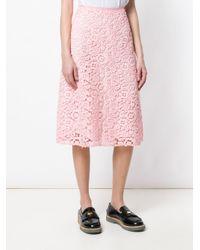 Miu Miu フローラル スカート Pink