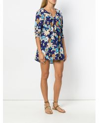 0e6bc24dcd27 For Love & Lemons Magnolia Trapeze Mini Dress in Blue - Lyst