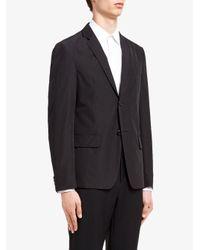 メンズ Prada スリムフィット シングルジャケット Black