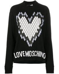 Love Moschino ハートプリント プルオーバー Black