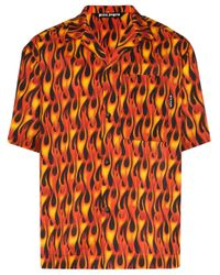 Chemise de bowling imprimée Palm Angels pour homme en coloris Black