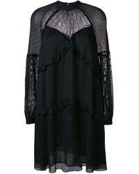 Pinko Black Kleid mit Spitzendetails