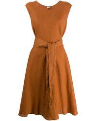 Vestido tubo con cinturón Aspesi de color Orange