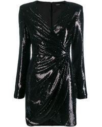 Robe de soirée brodée de sequins P.A.R.O.S.H. en coloris Black