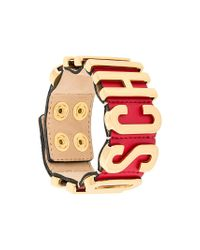 Moschino - Red Logo Cuff - Lyst