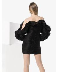 Magda Butrym Black Trani Ruffled Mini Dress