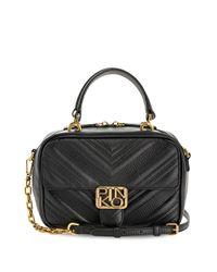Стеганая Мини-сумка Квадратной Формы Pinko, цвет: Black
