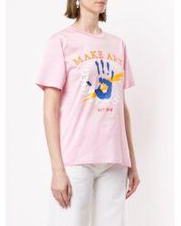Ports 1961 Make Art Not War Tシャツ Pink
