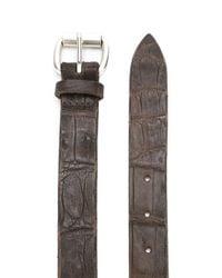 Orciani Brown Crocodile Effect Belt for men