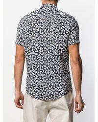 Emporio Armani Hemd mit Adler-Print in Blue für Herren
