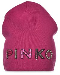 Bonnet à logo à ornements Pinko en coloris Pink