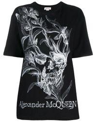 Alexander McQueen フローラル Tシャツ Black