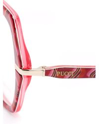 Emilio Pucci Pink Oversized Frame Glasses
