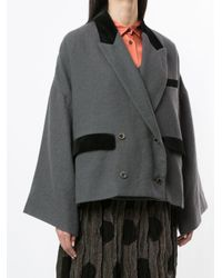 Uma Wang オーバーサイズ ダブルジャケット Gray