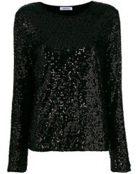 P.A.R.O.S.H. Black Sequinned Blouse