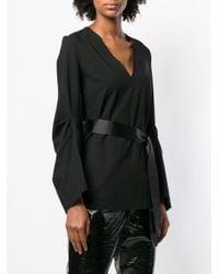 Blouse à ceinture nouée FEDERICA TOSI en coloris Black