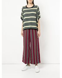 Astraet Green Striped Jersey T-shirt