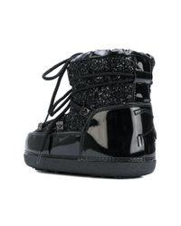 Chiara Ferragni Black Glitter Moon Boots