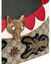 Gucci Black Fox Head Shoulder Bag