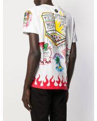 Chemise à imprimé graphique Philipp Plein pour homme en coloris White