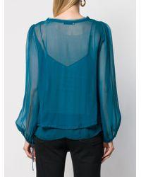 Blouse à poches poitrine Dorothee Schumacher en coloris Blue