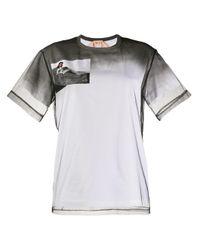 T-shirt à empiècements en résille N°21 en coloris White