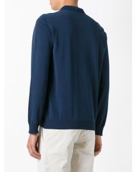 Boglioli - Blue Longsleeved Polo Shirt for Men - Lyst