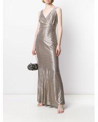 Robe Alethe Lauren by Ralph Lauren en coloris Metallic