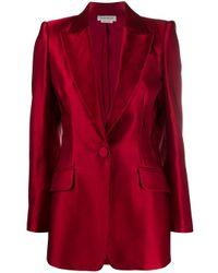 Blazer monopetto di Alexander McQueen in Red
