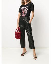T-shirt à logo imprimé Pinko en coloris Black