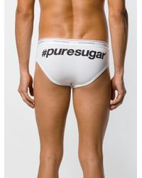 DSquared² - White Printed Briefs for Men - Lyst